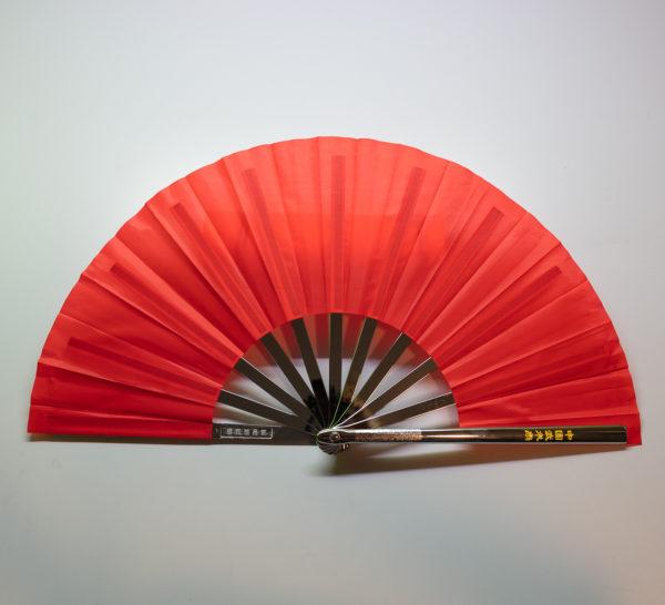 Premium Kung Fu Stahlfächer rot